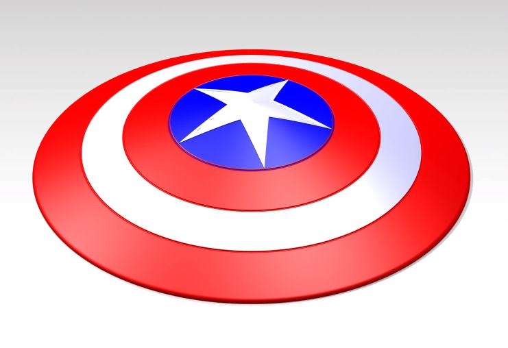 741x508 Captain America's Shield