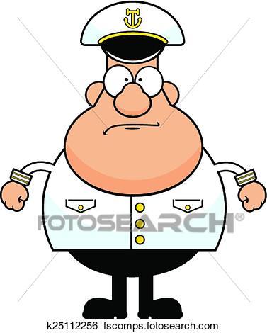 377x470 Clip Art Of Cartoon Ship Captain K25112256