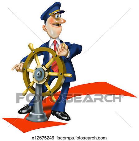 450x457 Stock Illustration Of Ship Captain X12675246