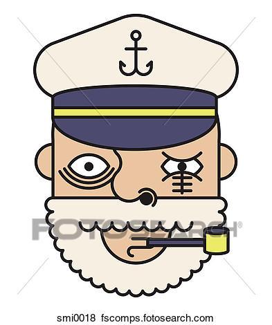393x470 Stock Illustration Of Ship Captain Smi0018