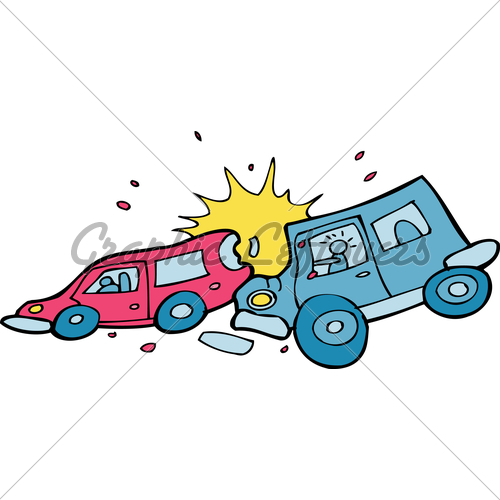 500x500 Cartoon Car Crash Clipart
