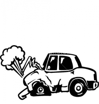 384x400 Cartoon Car Crash Clipart