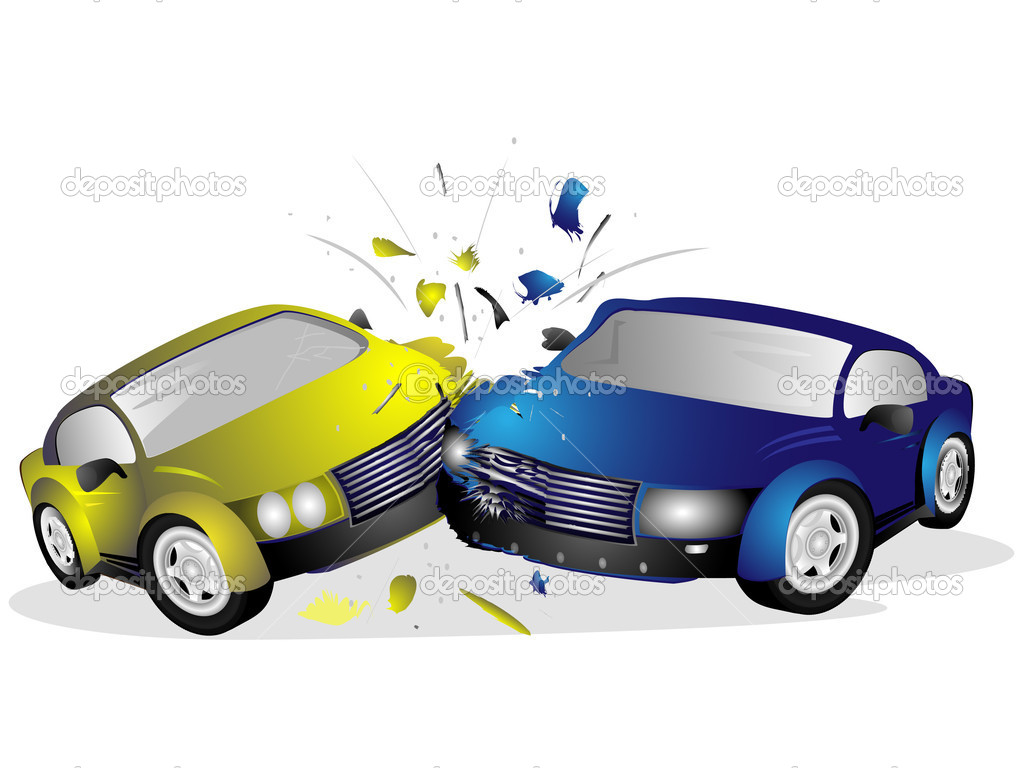 1024x768 Cartoon Car Crash Clipart
