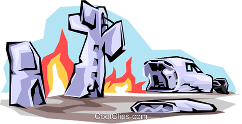 480x247 Plane Crash Royalty Free Vector Clip Art Illustration Tran0502