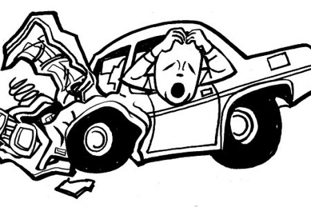 450x300 Wreck Clipart Smashed Car