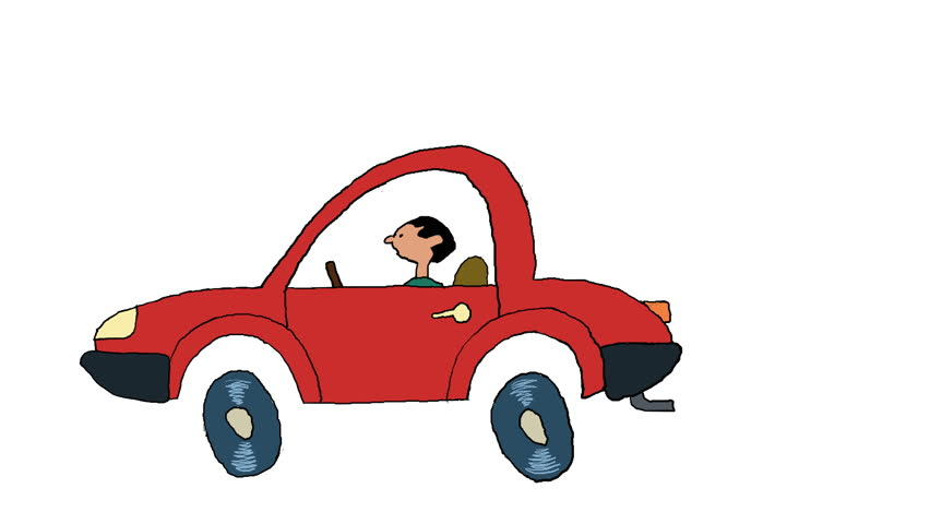 852x480 Car Crash A Small Gag About Traffic Accident.2d Animated Cartoon
