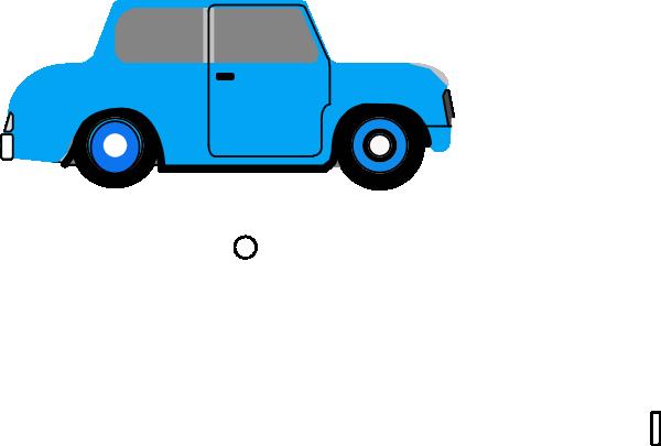 600x405 Animated Blue Car 2 Clip Art