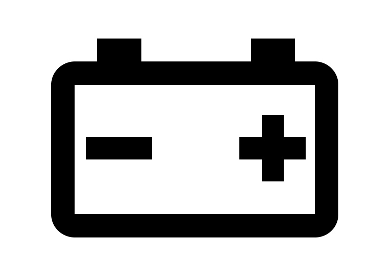 800x566 Car Battery Icon Free Vector