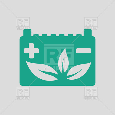 400x400 Car Eco Battery Icon Royalty Free Vector Clip Art Image