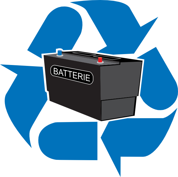 600x599 Recycled Battery Clip Art