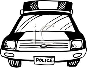 300x234 Art Image Black And White Cop Car