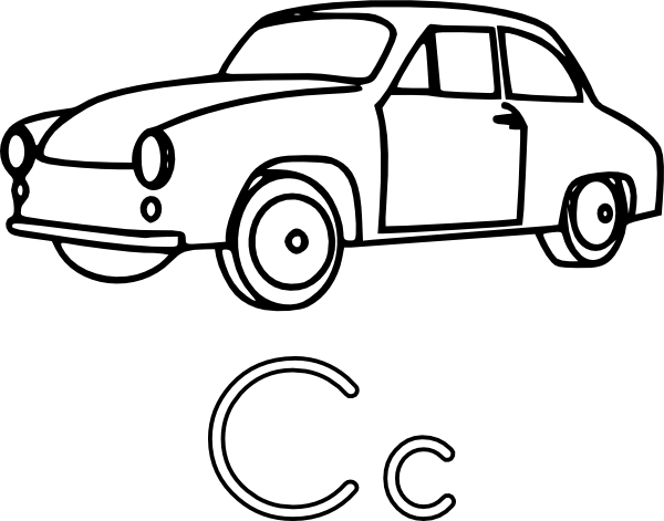600x471 C Is For Car Clip Art