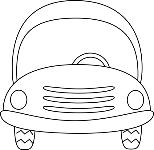 500x488 Cute Black And White Car Clip Art