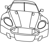 170x153 Free Black And White Cars Outline Clipart