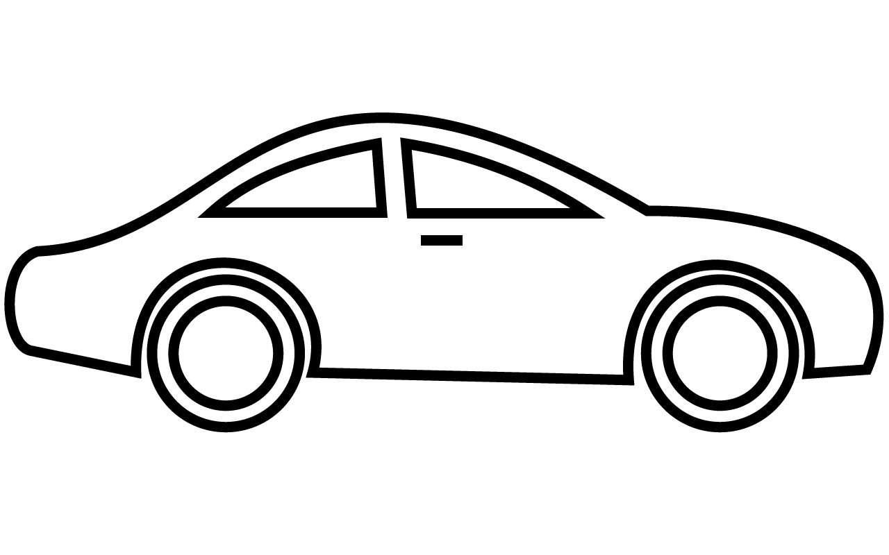 1280x800 Image of 39 Car Clipart Black and White Images