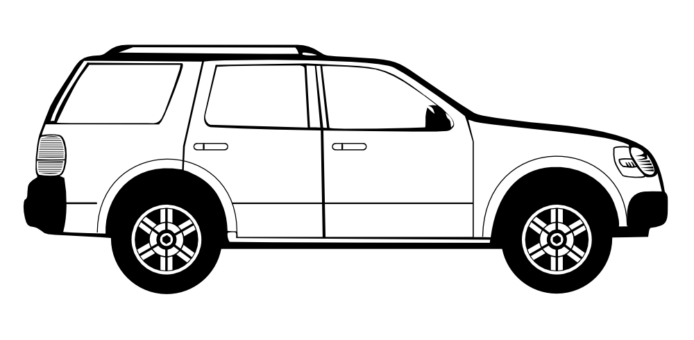 1000x490 Image of 39 Car Clipart Black and White Images
