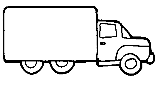 545x289 Pickup Truck Black And White Clipart