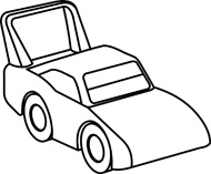 190x157 Toy car clip art black and white clipart