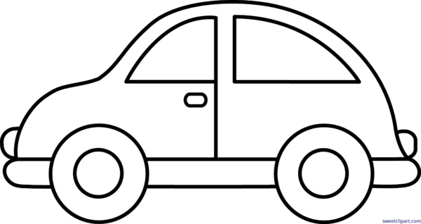 Car white. Black and clipart free
