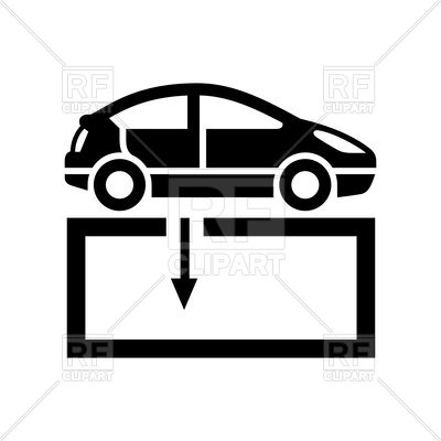 400x400 Black icon of repair shop on white background