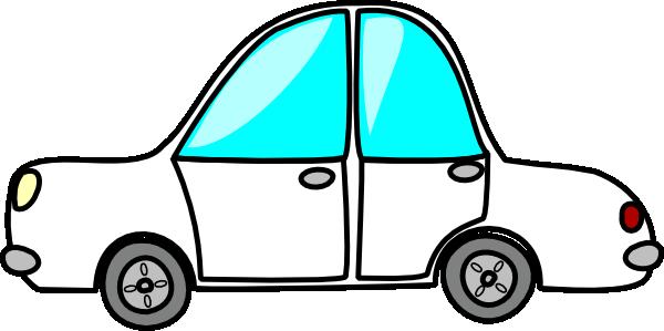 600x299 Cartoon White Car Clip Art