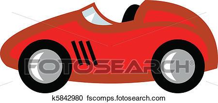 450x212 Clipart Of Race Car Cartoon K5842980