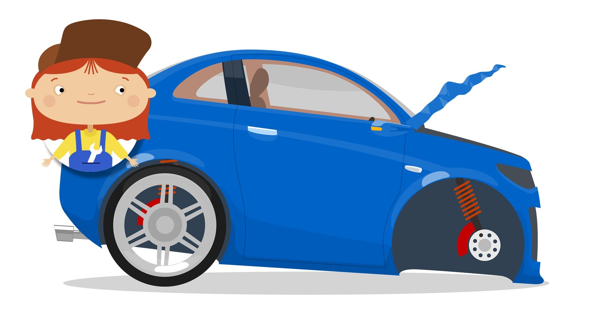 1920x1080 Doctor Mcwheelie, A Blue Car Kid Amp A Tow Truck.