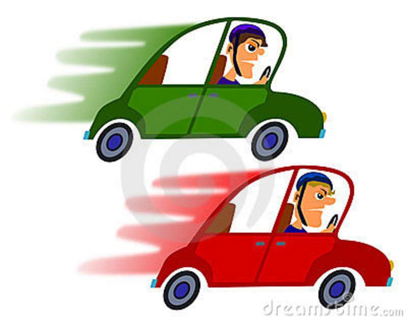800x632 Fast Car Cartoon Clipart