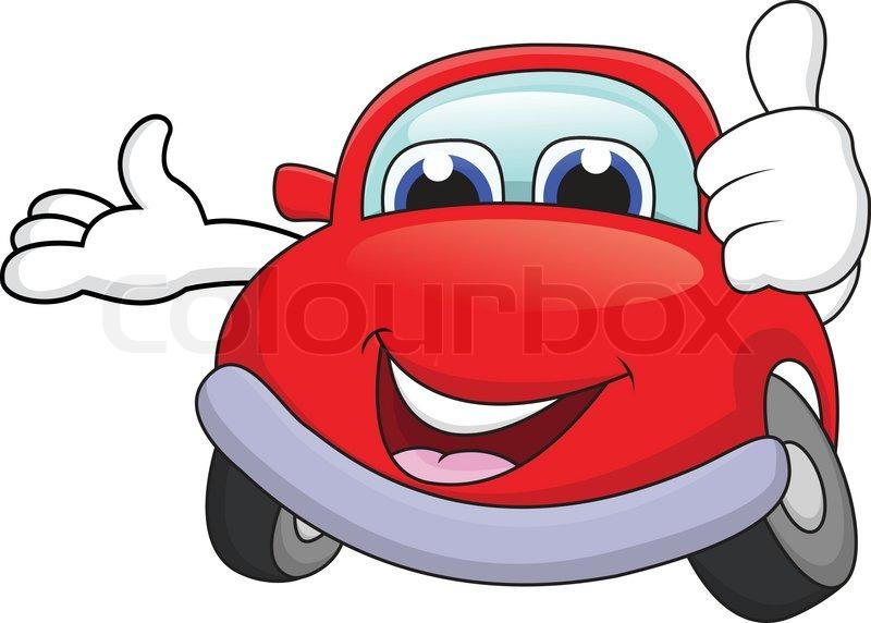 800x572 Funny Car Cartoon Stock Vector Colourbox