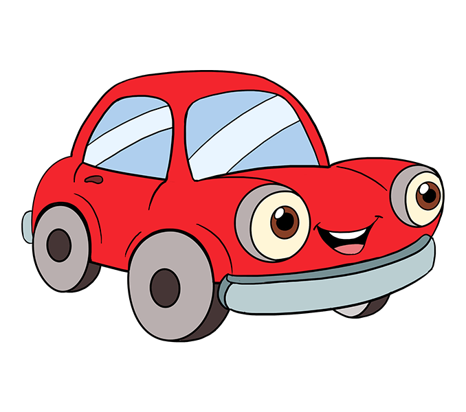 678x600 How To Draw A Cartoon Car Easy Step By Step Drawing Guides