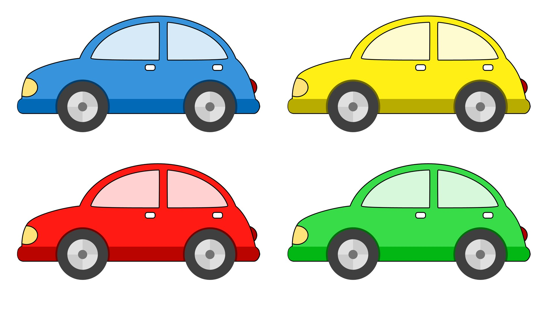 cartoon cars cartoons colors clipart painting clipartmag learn file widescreen