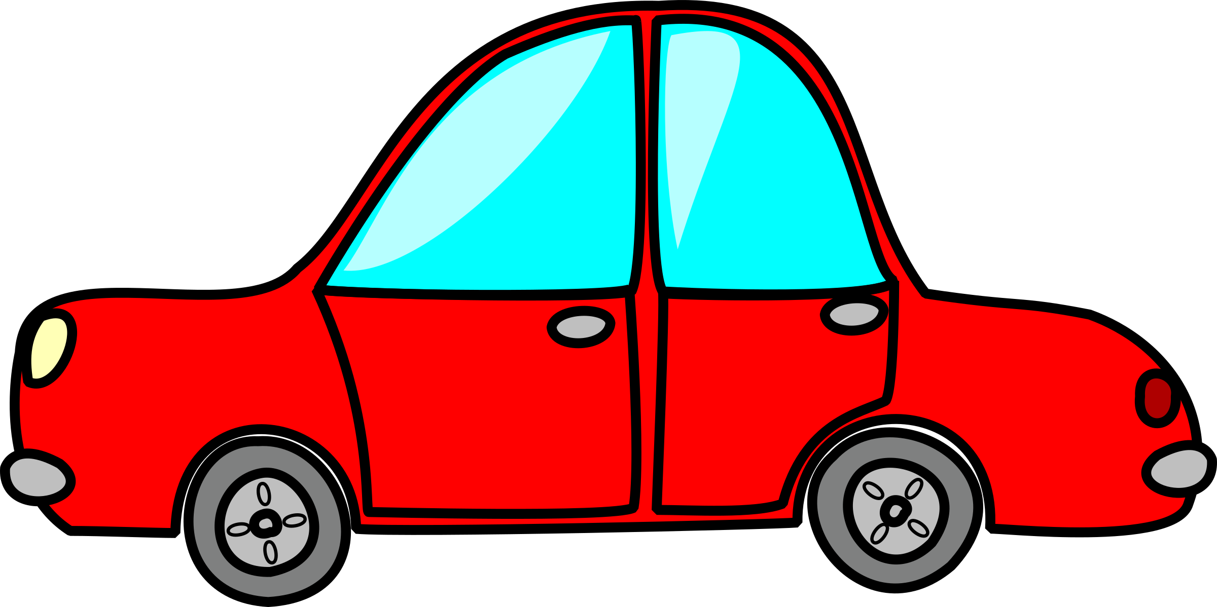 2400x1198 Red Cartoon Car Png Clipart