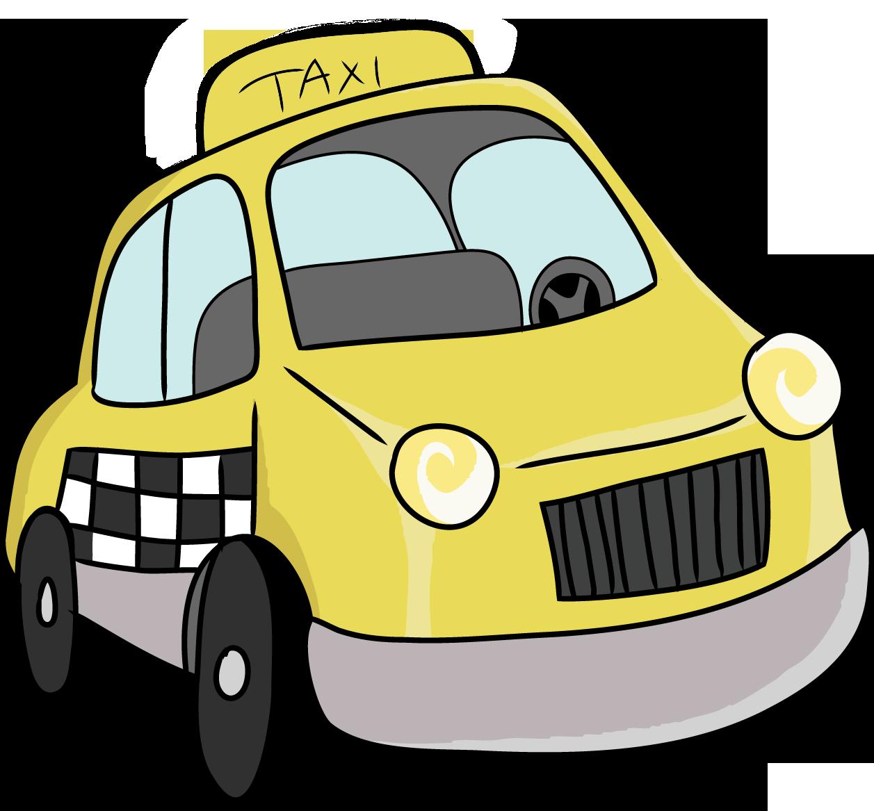 1257x1167 Cartoon Taxi Car Png Clipart