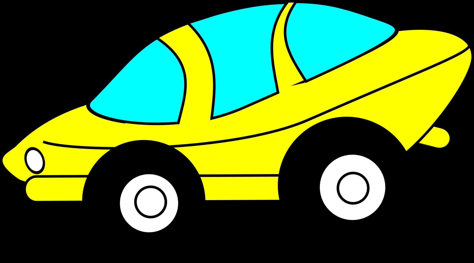 2000x1112 Free Cartoon Car Clipart
