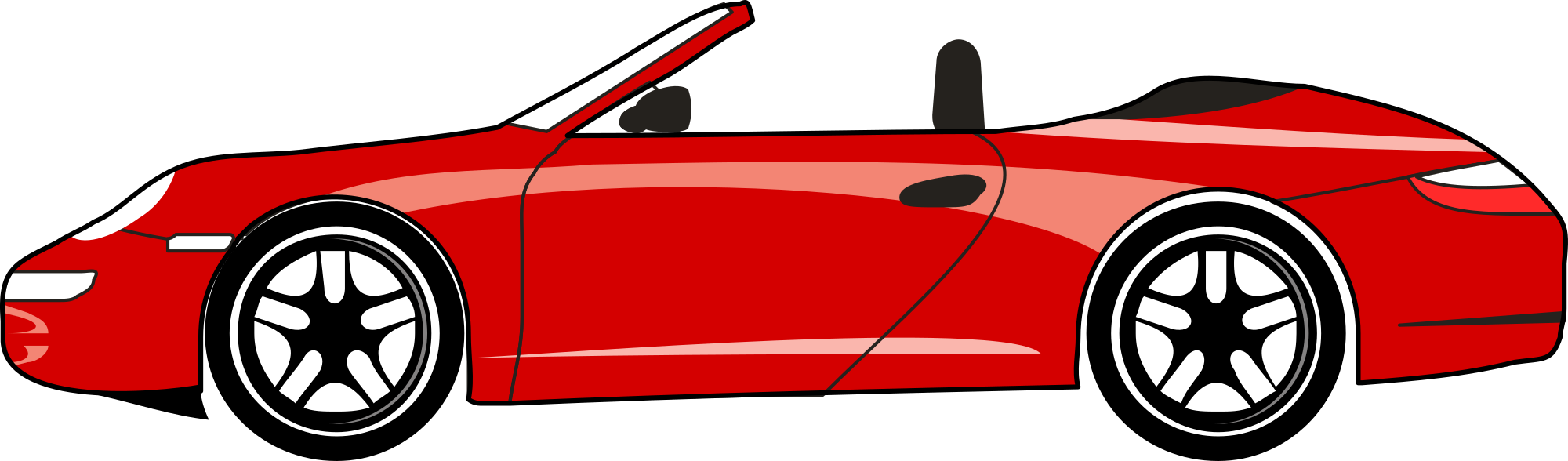 2000x588 free red sports car clipart clipart and vector image