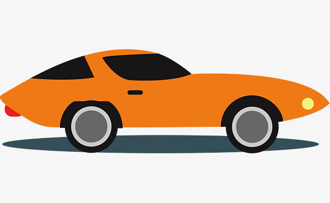 650x400 Orange Cartoon Sports Car, Cartoon Car, Luxury Car, Automobile Png