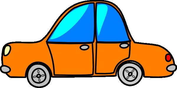 600x299 Car Orange Cartoon Clip Art