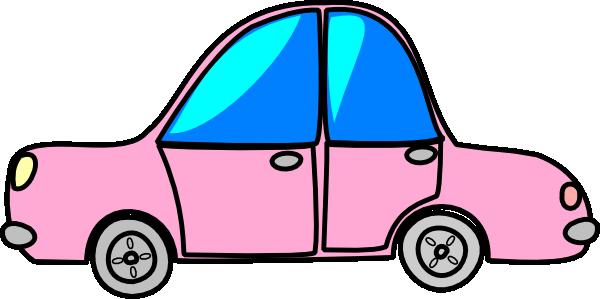 600x299 Car Pink Transport Cartoon Clip Art