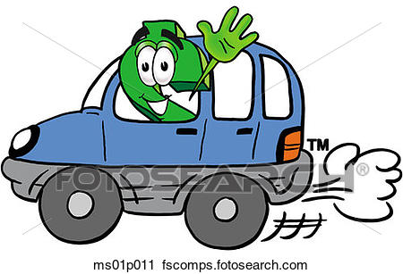 450x307 Clipart Of Dollar Sign Driving A Car Ms01p011