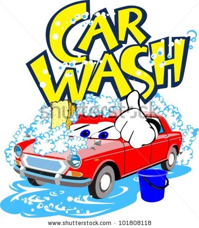 411x470 Car Wash Pictures Cartoon