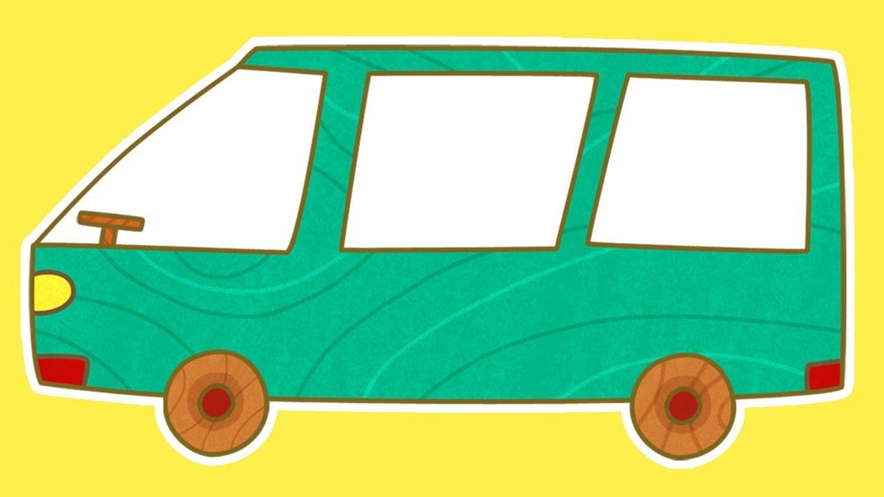 1280x720 Car Toons Minivan. Cars For Kids Amp Cartoons For Children.