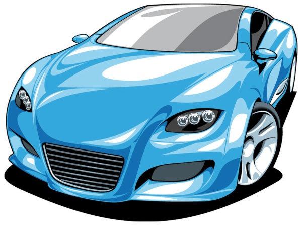 600x447 Cartoon Sports Car