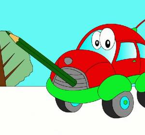 300x280 Coloring Books For Children Car Cartoons For Kids, Play Demo Video