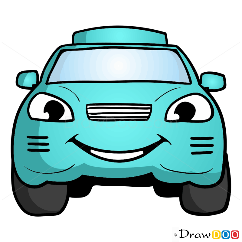 800x800 How To Draw Turquoise Car, Cartoon Cars