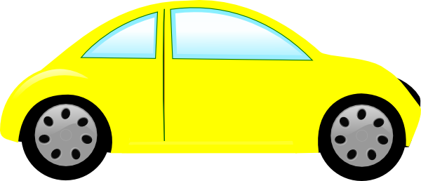600x258 Car clipart yellow