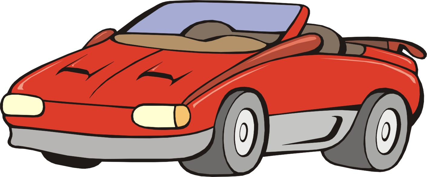 1412x587 Cartoon clipart of cars