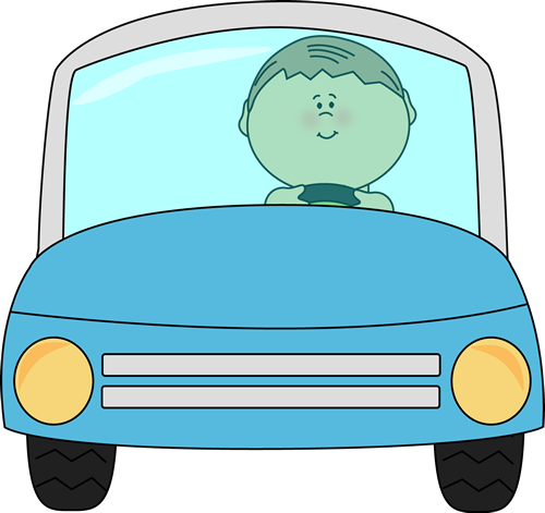 500x471 Kid Driving a Car Clip Art
