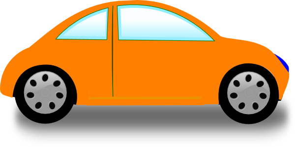 600x299 Orange Car Clip Art