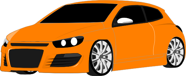 600x246 Orange clipart sports car