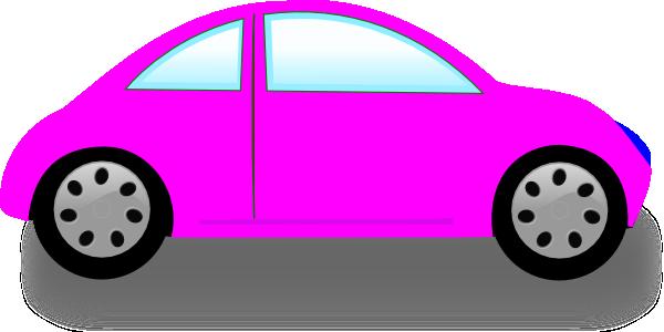600x300 Pink Car Clip Art